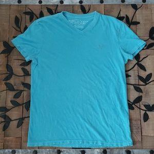 American Eagle Athletic Fit Blue V-neck t-shirt M